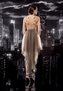 #129-2 skirt / black, #129-3 blouse / nude