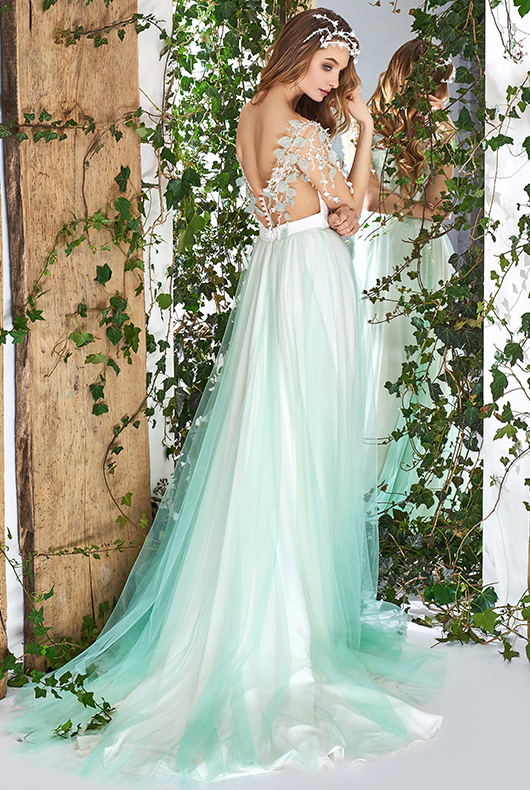 2018 wedding dress trends papilio boutique for Wedding dresses colors other than white