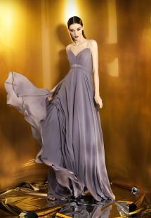 Style #0929, empire style sweet heart neckline floor length gown with strap embellishment and jeweled embellishment in the middle below the chest, available in powder, berry, bright blue, mint, red, black, turquoise, gray, purple, blue, pink, peach and orange