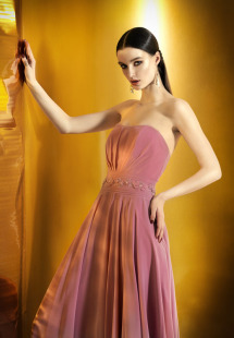 Style #0903, strapless sweetheart neckline a-line dress with embroidery along the waistline, available berry, bright blue, mint, red, black, turquoise, gray, powder, purple, blue, pink and orange