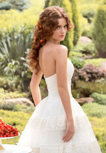 Style #1437, sweetheart strapless lace ball gown wedding dress, available in white and ivory
