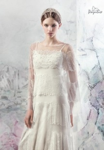 Style #1620ab, lace sheath wedding dress with long sleeves, available in white and ivory