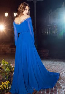 Style #209, off the shoulder,mesh with beads, loose long sleeve gown, available in nude, light mint, sky-blue, cool blue, cornflower-blue, red, lilac, black, white, cream, pink, peach, mint, berry, pink-ivory, grey, green and yellow