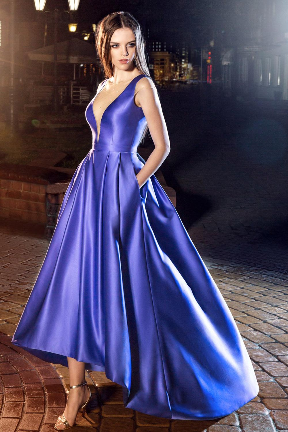 2019 prom, high-low evening gown