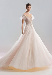 Style #1922L, available in ivory-pink (photo), ivory, white