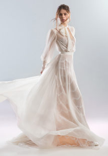 Style #1928L (tulle dress), available in ivory; Style #1928-1 (lining dress), available in ivory with nude lining (photo), ivory