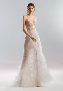 Style #1929L, available in ivory with nude lining (photo), ivory