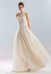 Style #402, available in peach (photo), ivory