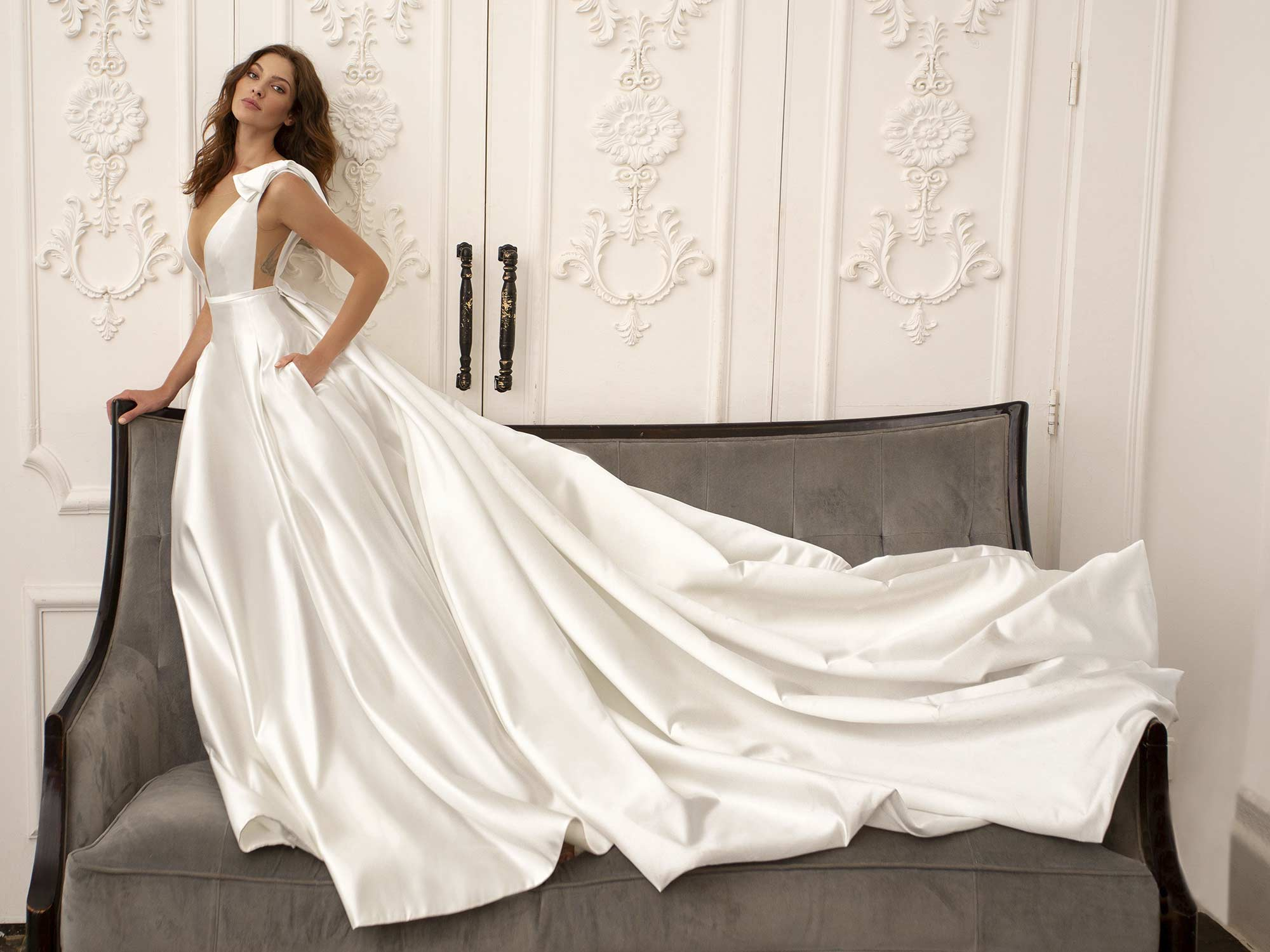 Style #11948, available in ivory, white