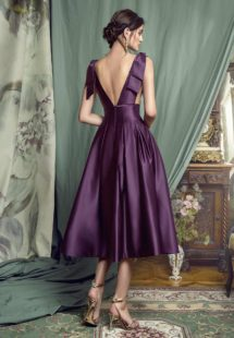 Style #451, available in black, crimson, eggplant, grey, purple, white, ivory
