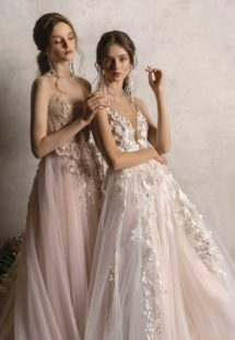 Style #2025aL, available in nude-pink, ivory-pink; Style #2024L, available in ivory-pink, ivory