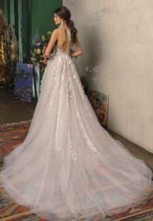 Style #2024L, available in ivory-pink, ivory