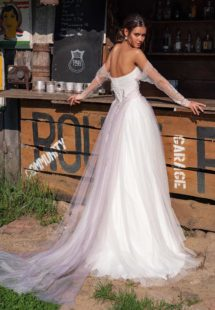 Style #12059, available in ivory, ivory-purple (photo)