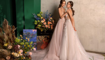 Blush, pink wedding dresses