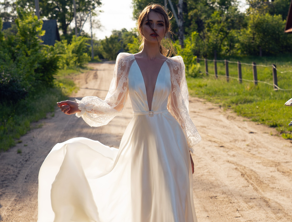 Puff sleeve wedding dresses