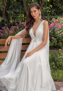 Style #13001, available in ivory, peach, sky blue