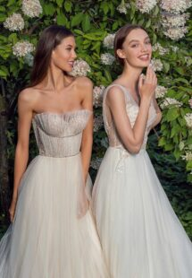Style #13010, available in ivory-nude, ivory; Style #13018, available in ivory-nude, ivory