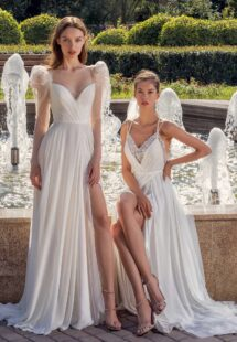 Style #13014, available in ivory; Style #13006, available in ivory