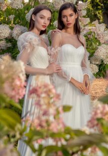 Style #13014, available in ivory; Style #13019, available in ivory
