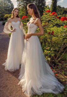 Style #13019, available in ivory; Style #13020, available in ivory